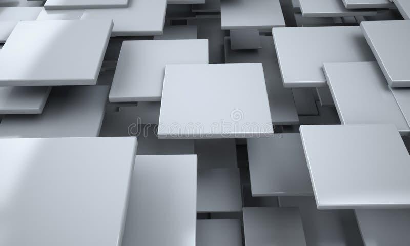 Abstrakt bakgrund för vita kvarter stock illustrationer