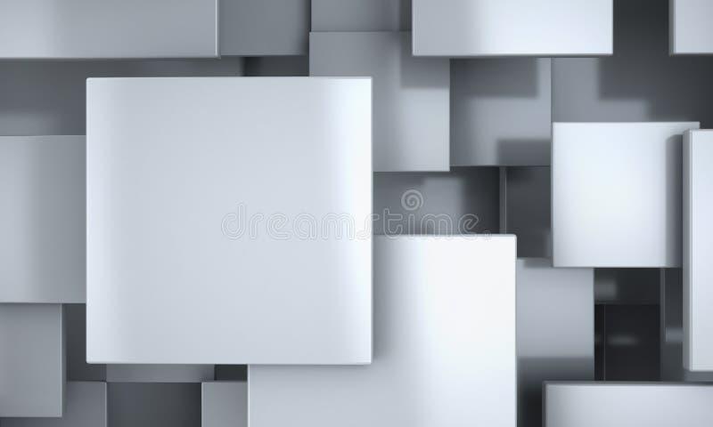 Abstrakt bakgrund för vita kvarter royaltyfri illustrationer