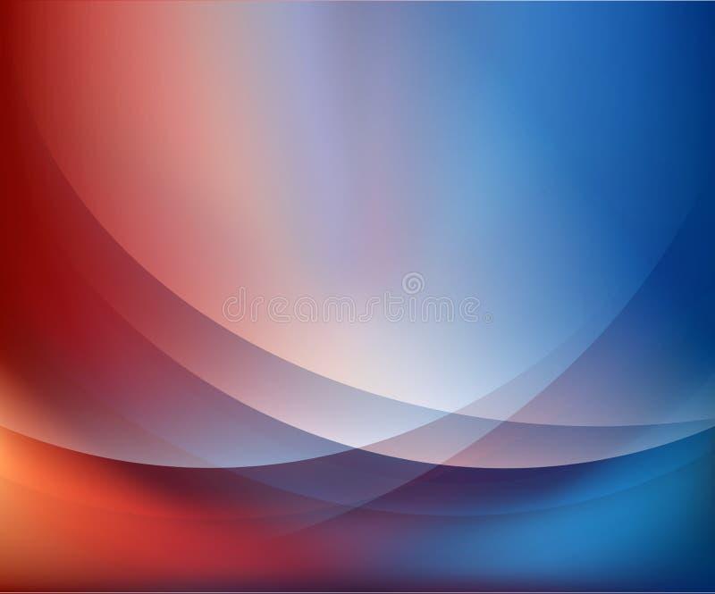 Abstrakt bakgrund för Wave vektor illustrationer
