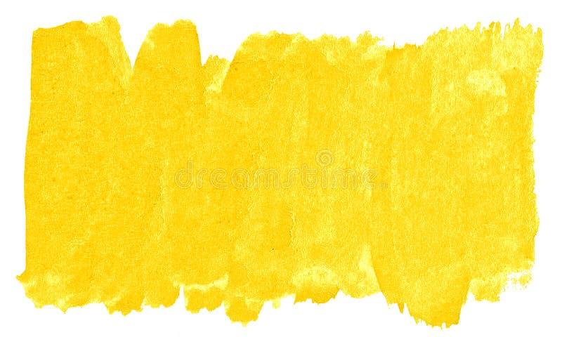 Abstrakt bakgrund f?r vibrerande gul vattenf?rg, fl?ck, f?rgst?nkm?larf?rg, fl?ck, skilsm?ssa Tappningm?lningar f?r design och ga vektor illustrationer