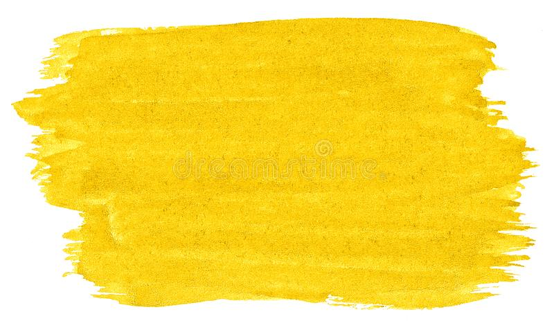 Abstrakt bakgrund f?r vibrerande gul vattenf?rg, fl?ck, f?rgst?nkm?larf?rg, fl?ck, skilsm?ssa Tappningm?lningar f?r design och ga royaltyfri illustrationer