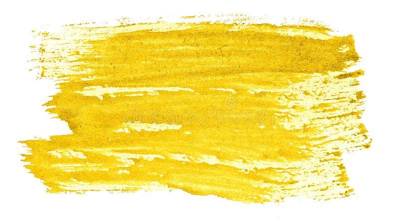 Abstrakt bakgrund f?r vibrerande gul vattenf?rg, fl?ck, f?rgst?nkm?larf?rg, fl?ck, skilsm?ssa Tappningm?lningar f?r design royaltyfri illustrationer
