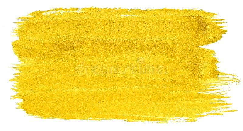 Abstrakt bakgrund f?r vibrerande gul vattenf?rg, fl?ck, f?rgst?nkm?larf?rg, fl?ck, skilsm?ssa Tappningm?lningar f?r design vektor illustrationer