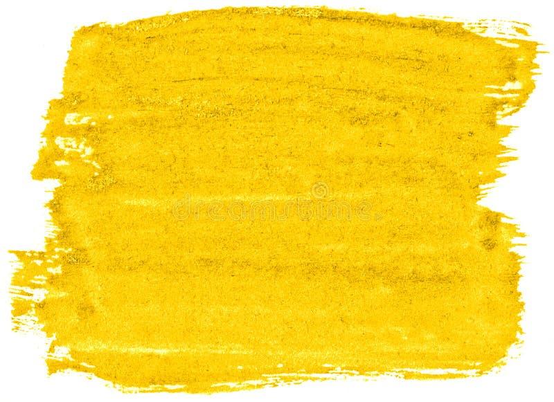 Abstrakt bakgrund f?r vibrerande gul vattenf?rg, fl?ck, f?rgst?nkm?larf?rg, fl?ck, skilsm?ssa Tappningm?lningar f?r design stock illustrationer