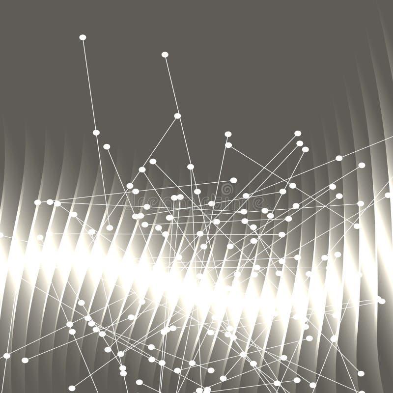 Abstrakt bakgrund fodrar och pricker glödande ljus effect03 royaltyfri illustrationer