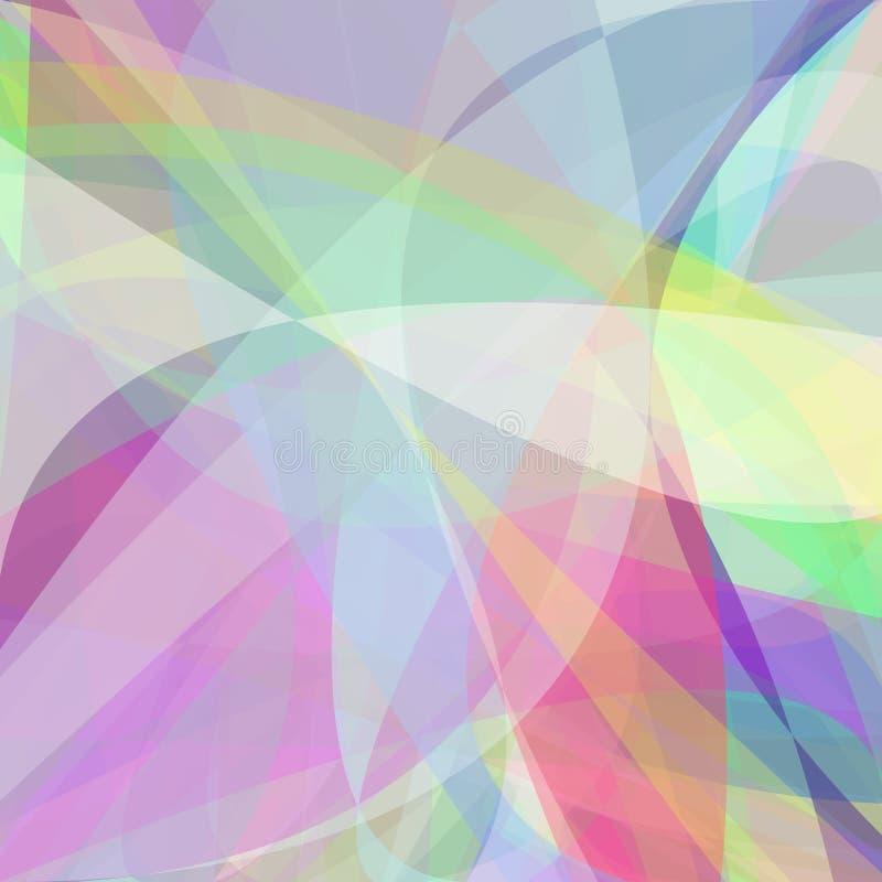 Abstrakt bakgrund från dynamiska kurvor stock illustrationer