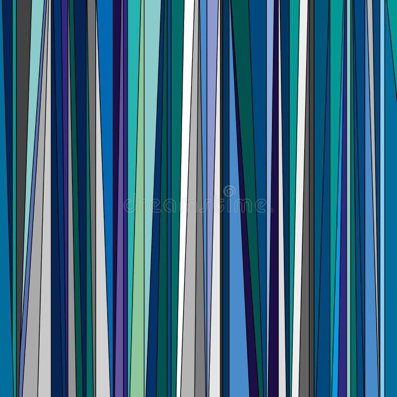 Abstrakt bakgrund från en variation av blått-gräsplan band royaltyfri illustrationer