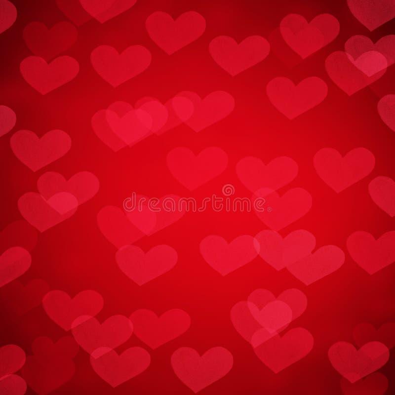 Abstrakt bakgrund från röda hjärtor för valentindagferie royaltyfria foton