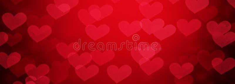 Abstrakt bakgrund från röda hjärtor för valentindagferie arkivbilder