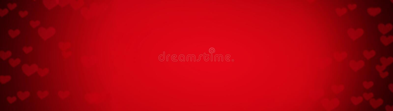 Abstrakt bakgrund från röda hjärtor för valentindagferie Skinande hjärtabokehljus royaltyfria bilder