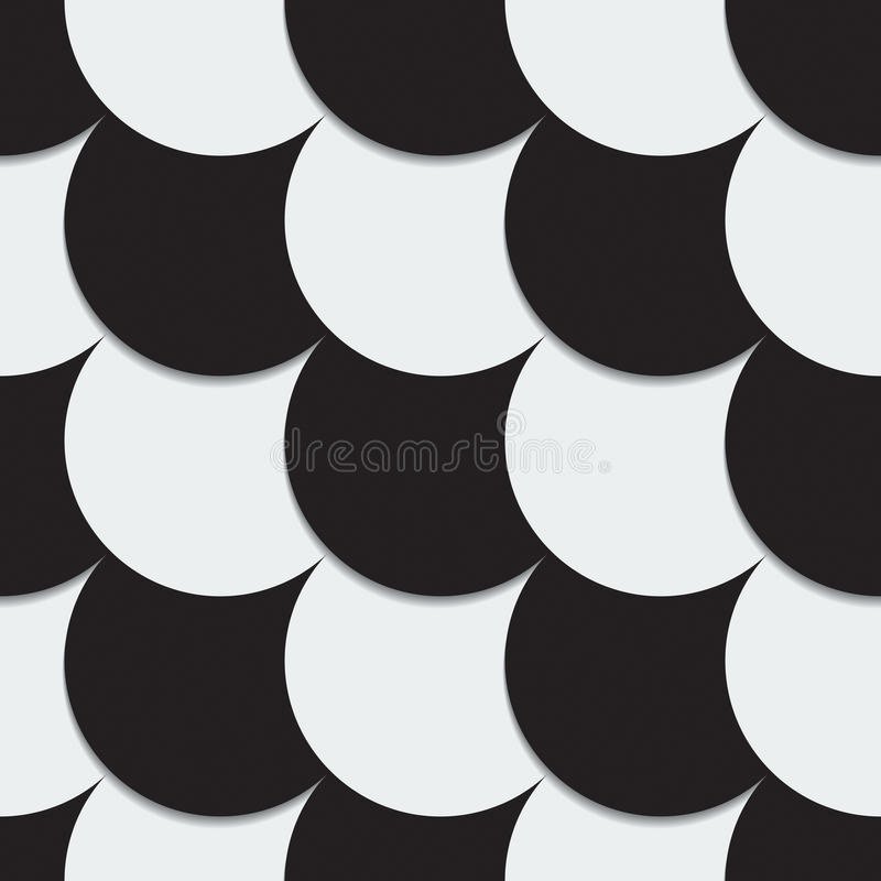 Abstrakt bakgrund från svartvita cirklar vektor illustrationer