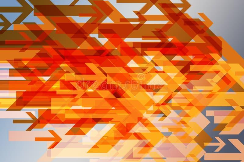abstrakt bakgrund framåtriktat vektor illustrationer