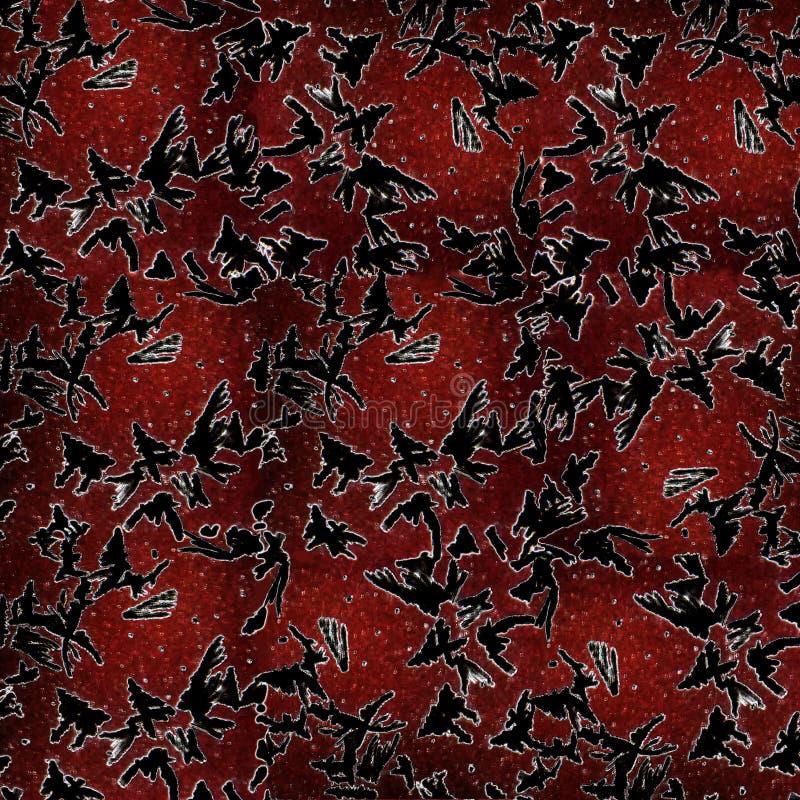 abstrakt bakgrund frostiga glass modeller Rött stock illustrationer