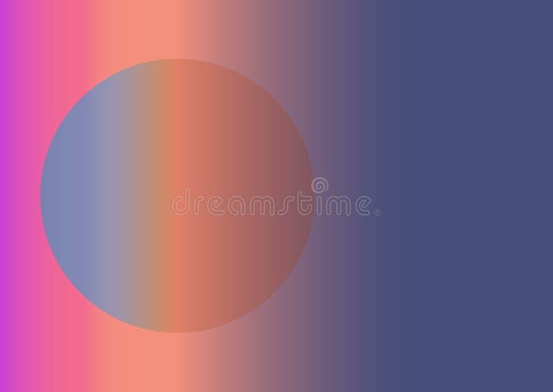 Abstrakt bakgrund genom att anv?nda lutningar Cirkeln i rektangeln f?rgrik vektor f?r bakgrund Horisontalsammans?ttning A4 royaltyfri illustrationer