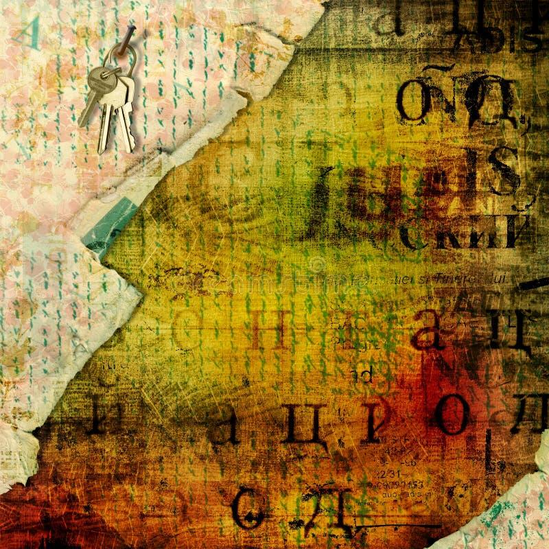Abstrakt bakgrund i stilen av blandat massmedia med a stock illustrationer