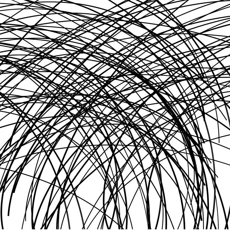 Abstrakt bakgrund i svartvita linjer royaltyfri illustrationer
