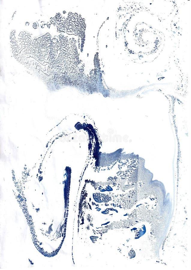 Abstrakt bakgrund i teknikerna av vattenfärgen och turkebruen royaltyfri illustrationer