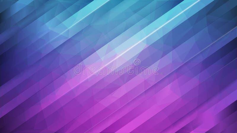 Abstrakt bakgrund, kör bandform på blått och purpurfärgat skevt vektor illustrationer