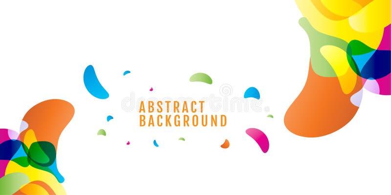 abstrakt bakgrund kulört Färgrika droppar med utrymme för text royaltyfri illustrationer