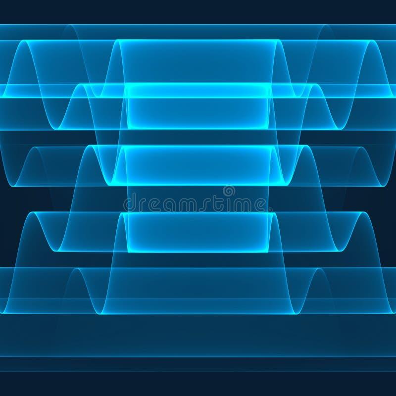 abstrakt bakgrund Ljusa blåa band på mörkret - blå bakgrund Geometrisk modell i blåa färger royaltyfri foto