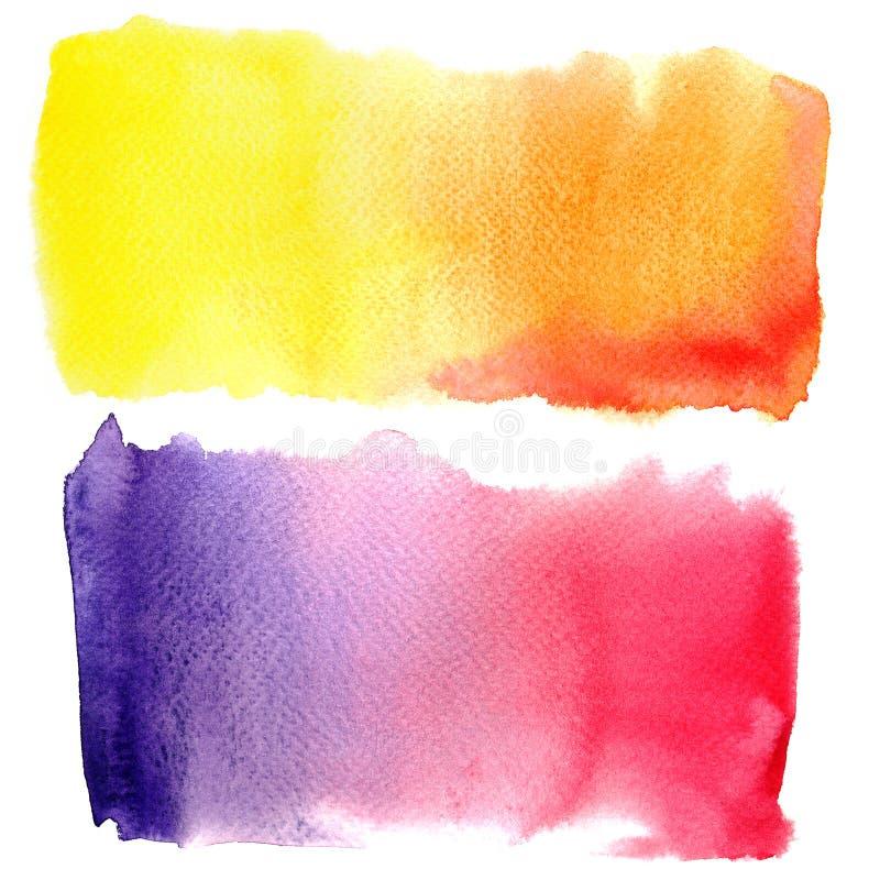 abstrakt bakgrund målad vattenfärg royaltyfri illustrationer