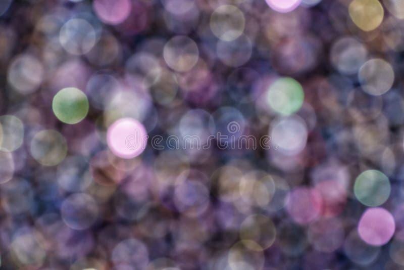 abstrakt bakgrund Mångfärgade cirklar i härlig bokeh vektor illustrationer