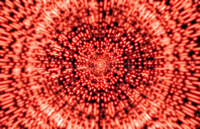 Abstrakt bakgrund med öppet utrymmestjärnan snedvrider eller Hyperspace Trav arkivfoto