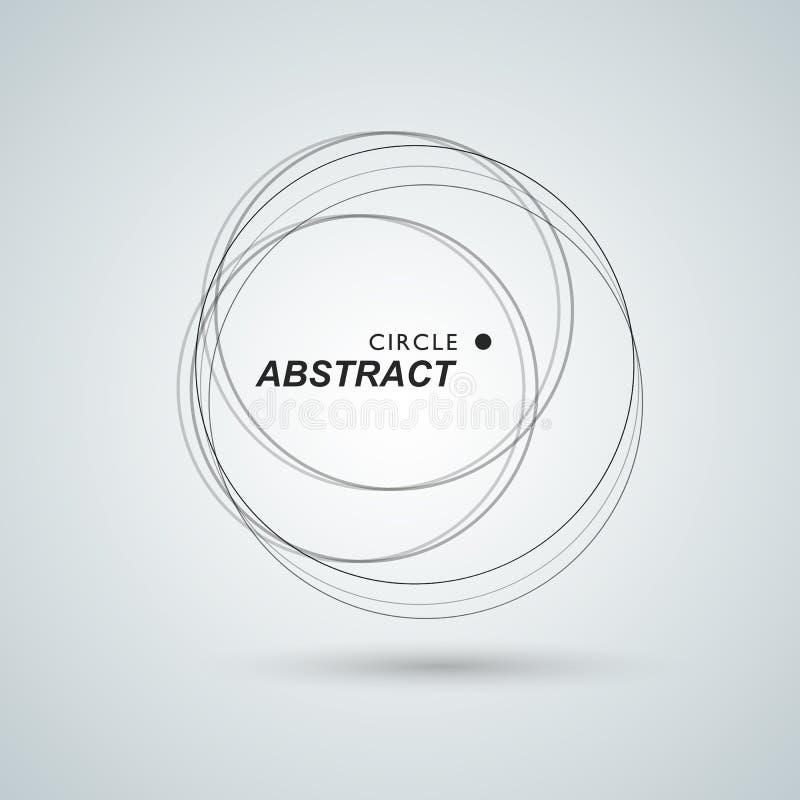 Abstrakt bakgrund med överlappande cirklar och prickar stock illustrationer