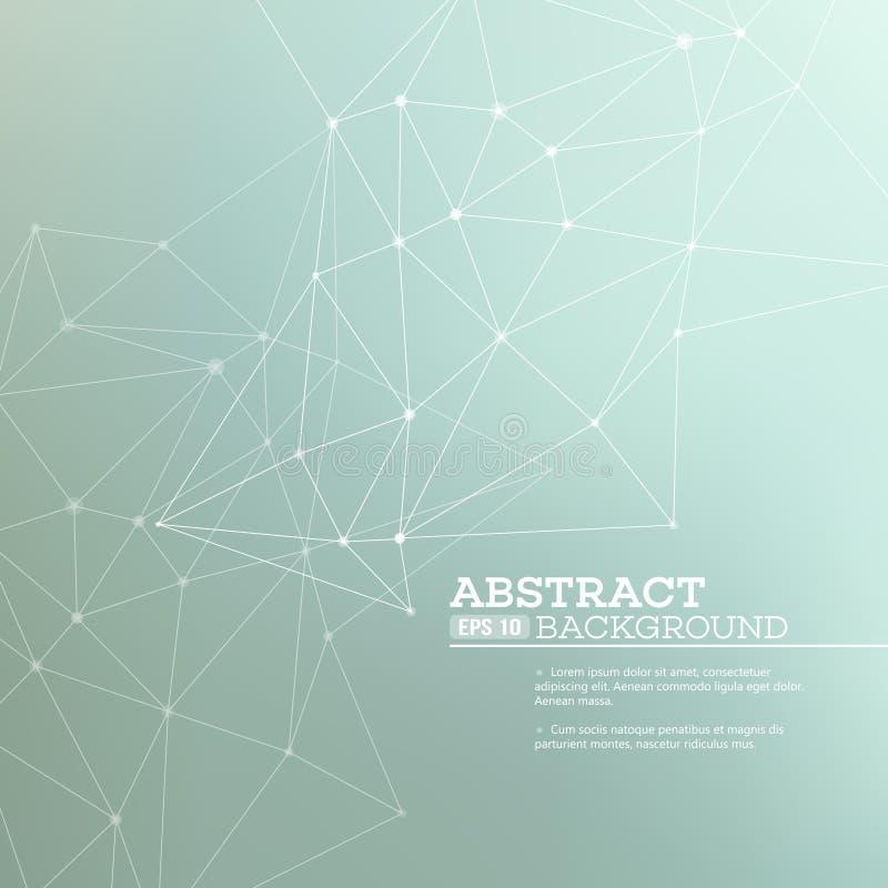 Abstrakt bakgrund med anslutningsbegrepp vektor illustrationer