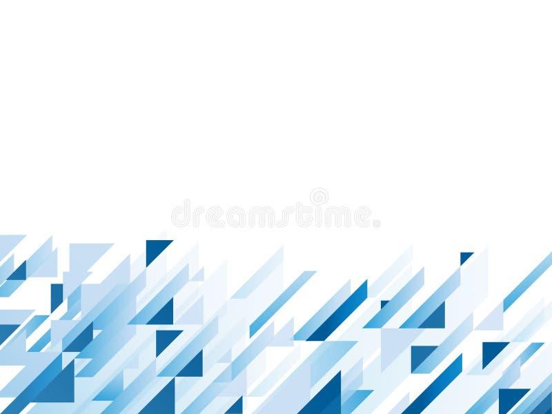 Abstrakt bakgrund med blåa geometriska former, royaltyfri illustrationer