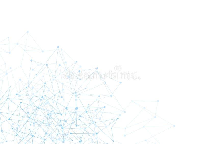 Abstrakt bakgrund med blåttprickar och förtjänar  stock illustrationer