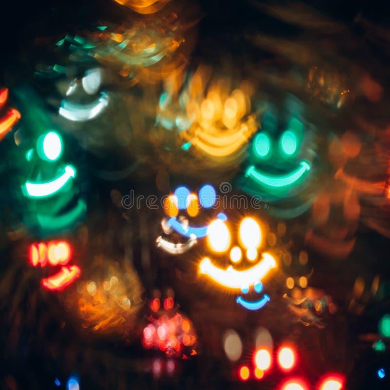 Download Abstrakt Bakgrund Med Bokeh I Shape Av Leendet Fotografering för Bildbyråer - Bild av pittoreskt, spelrum: 106838209