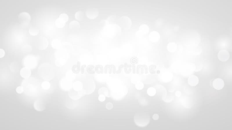 Abstrakt bakgrund med bokeheffekt i vit stock illustrationer