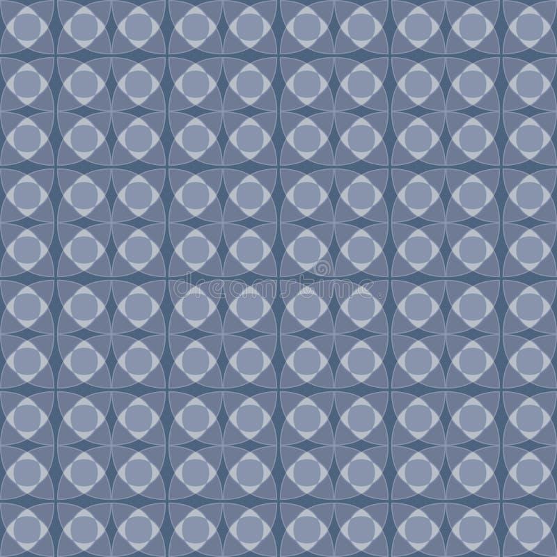 Abstrakt bakgrund med den geometriska sömlösa prydnaden, pastellfärgad blå färg Abstrakt geometrisk monokrom modell bakgrundsball vektor illustrationer