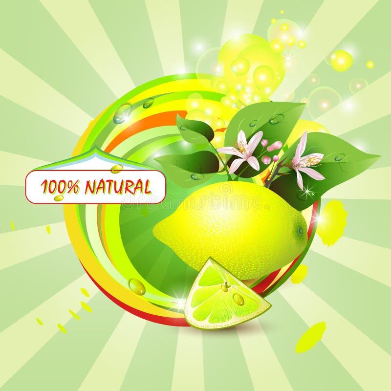 Abstrakt bakgrund med den nya citronen royaltyfri illustrationer