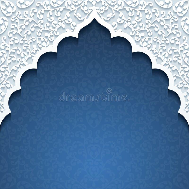 Abstrakt bakgrund med den traditionella prydnaden royaltyfri illustrationer