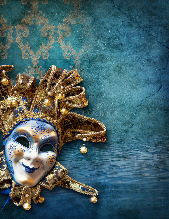 Abstrakt bakgrund med den venetian maskeringen royaltyfri foto