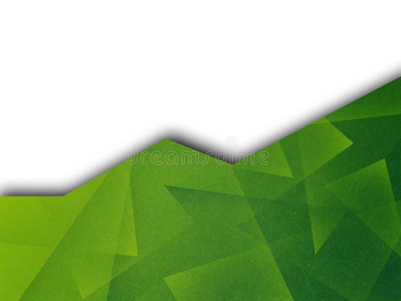 Abstrakt bakgrund med en i lager geometrisk modell för original Utrymme för text Överlappande ark av papper stock illustrationer