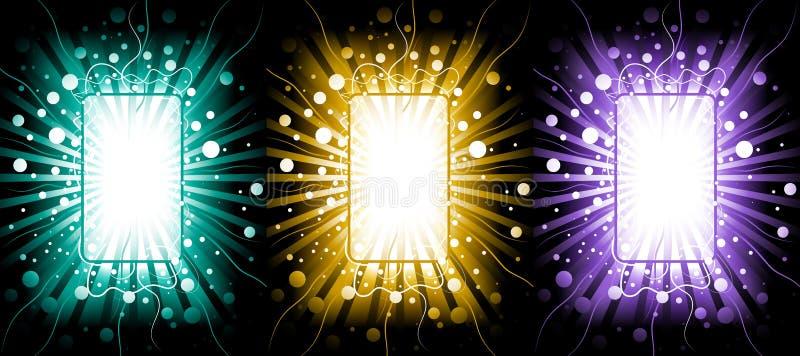 Abstrakt bakgrund med en kontur av en smartphone vektor illustrationer