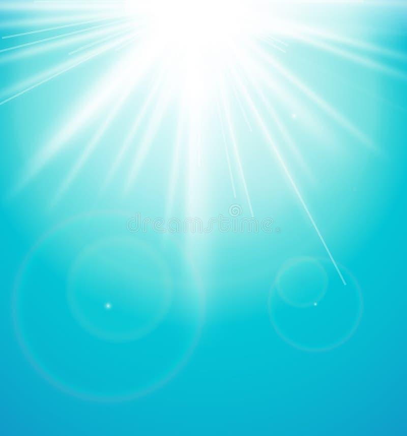 Abstrakt bakgrund med en solbristning stock illustrationer