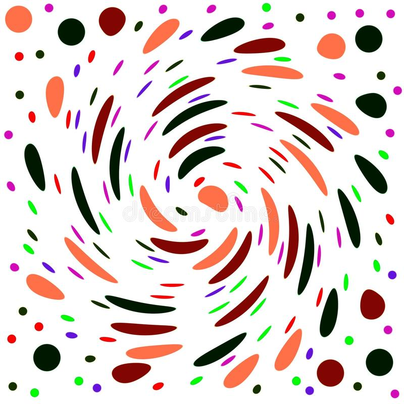 Abstrakt bakgrund med en virvel av konfettier stock illustrationer