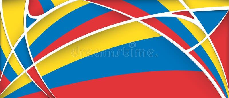 Abstrakt bakgrund med färger av den Colombia, Ecuador eller Venezuela flaggan royaltyfri illustrationer