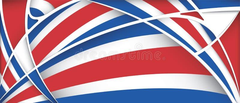 Abstrakt bakgrund med färger av den Costa Rica flaggan royaltyfri illustrationer
