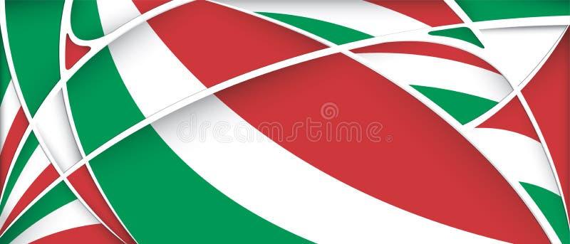 Abstrakt bakgrund med färger av den Mexico flaggan stock illustrationer