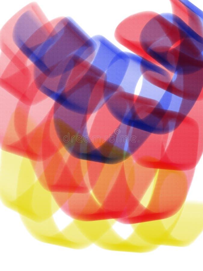 Abstrakt bakgrund med färgrika virvlar på vit bakgrund Borste- eller markörslaglängdbakgrund arkivbilder