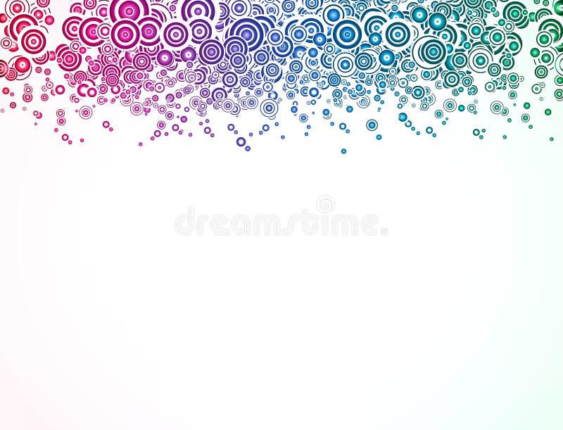 Abstrakt bakgrund med färgrikt cirklar. Vektor royaltyfri illustrationer