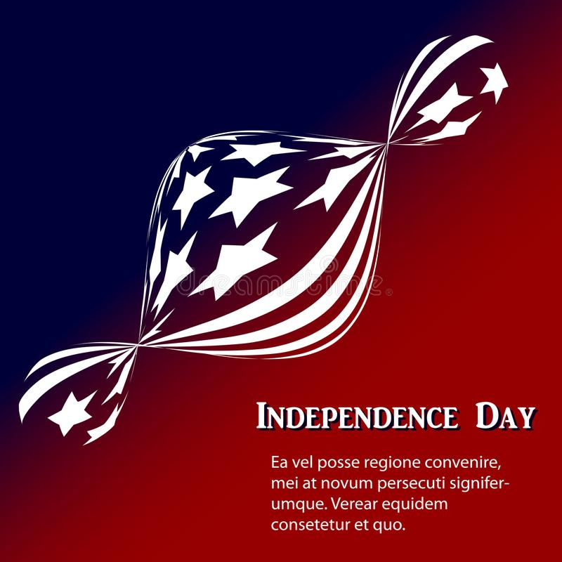 Abstrakt bakgrund med flaggan av Amerika vektor illustrationer