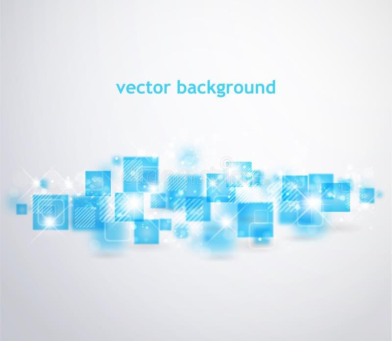Abstrakt bakgrund med fyrkantiga former vektor illustrationer