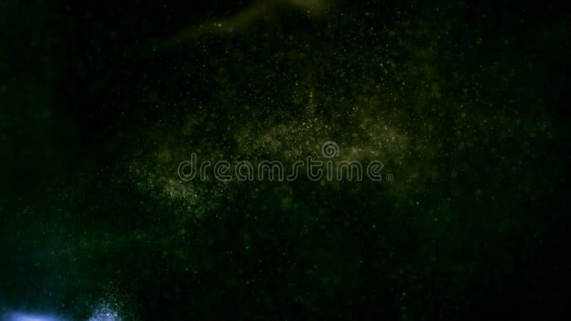 Abstrakt bakgrund med glödande partiklar royaltyfri bild