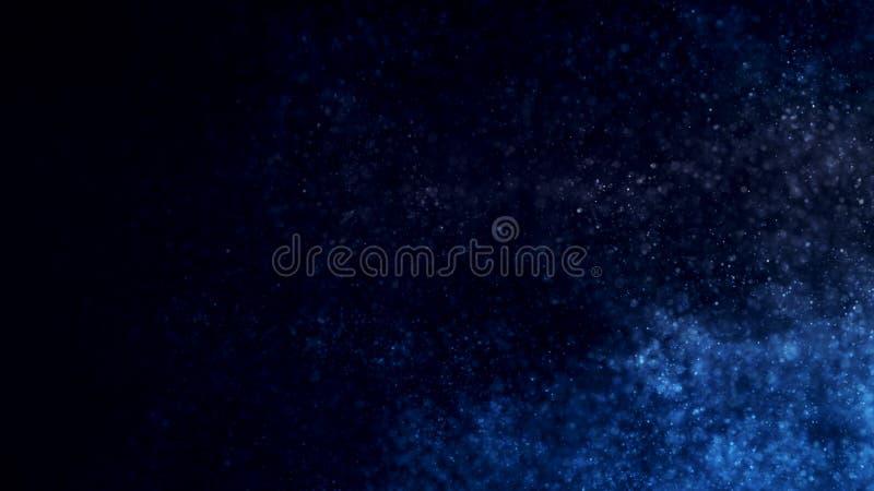 Abstrakt bakgrund med glödande partiklar fotografering för bildbyråer